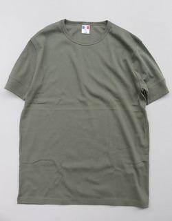Bandol 1X1 Rib Short Sleeve Military Crew OLIVE