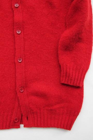 John Tulloch Heavy Brush Polo Neck Cardigan TUDOR (4)