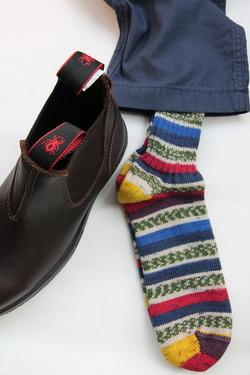 GRANGE CRAFT Fair Isle Socks No 4