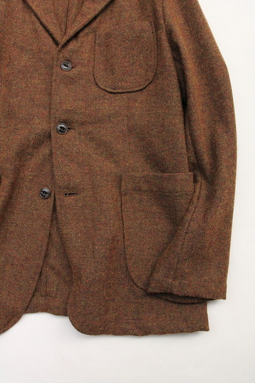 CANDIDUM Tweed 3 Button Sports Jacket BROWN (4)
