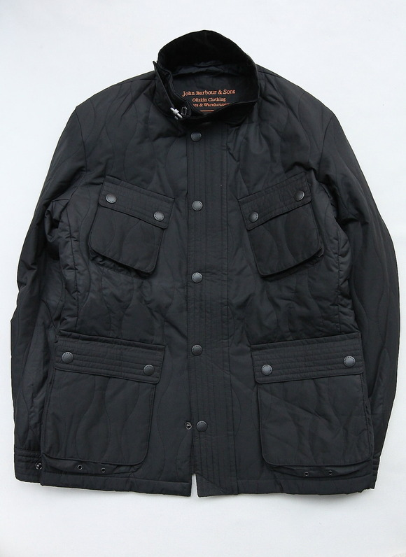 Barbour Beacon Heritage Collection Riders BLACK