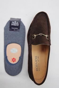 HALISON Organic Cotton Slipon Socks DENIM (2)