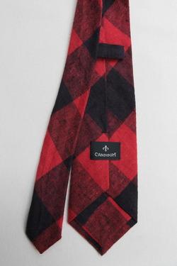 CANDIDUM Big Check Tie RED X BLACK (3)