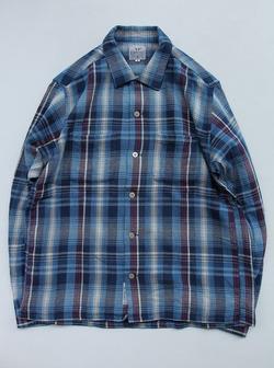 Keaton Chase Japan LS Camp Shirts BLUE