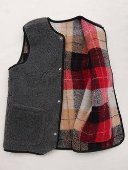Vincent et Mireille Boa Check RV Vest RED Check G (4)