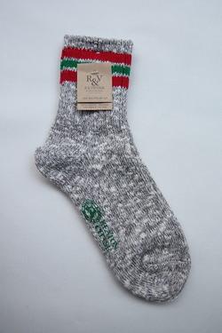 R&Vintage Nep 3Line Socks GREY