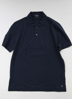 Harriss Pique Round Collar Polo D NAVY