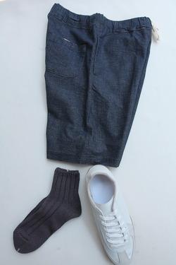 SMALL STONE Socks Cotton Big Rib Socks Ankle Gray
