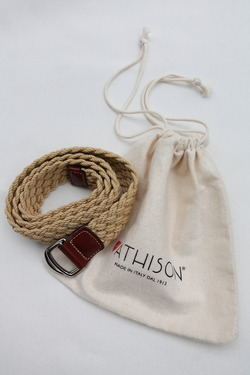 ATHISON Cotton Ring Belt BEIGE