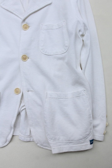 Goodon Cotton Mesh Pique 3 Button Jacket WHITE (3)