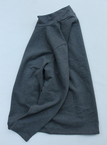 Quotidien Cotton Fleece Mockneck ANTHRACITE CHINE (4)