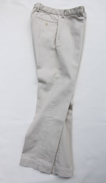 DC WHITE Pique Basic Pants IVORY (3)