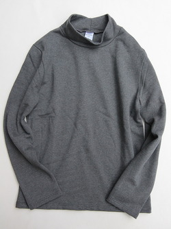 Quotidien Cotton Fleece Mockneck ANTHRACITE CHINE