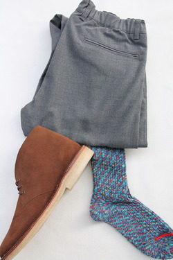 HALISON Marble Slab Rib Socks BLUE