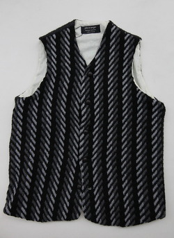 John Branigan Gents Waistcoat Stripe DARK GREY
