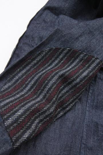 Your Uniform 6oz Denime BD Shirt Elbow Patch INDIGO (6)