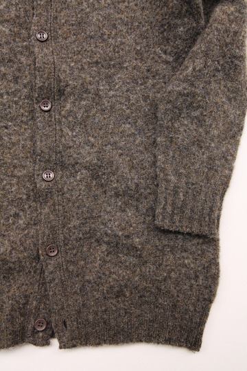 John Tulloch Heavy Brush Polo Neck Cardigan (5)