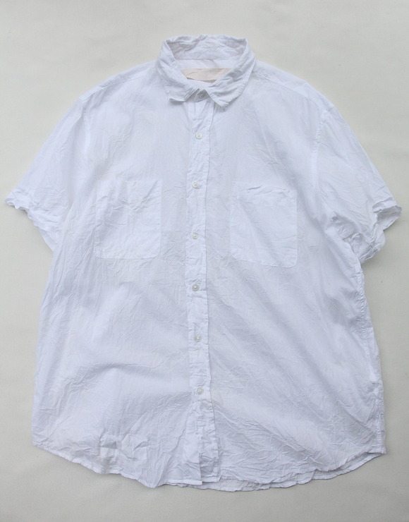 Vasy Lettlement Regular Collar SSL Oversized Shirt WHITE