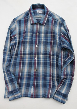 Keaton Chase Japan LS Camp Shirts BLUE