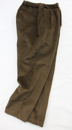 CESTERS Corduroy 2 Pleats Easy Trousers OLIVE (5)