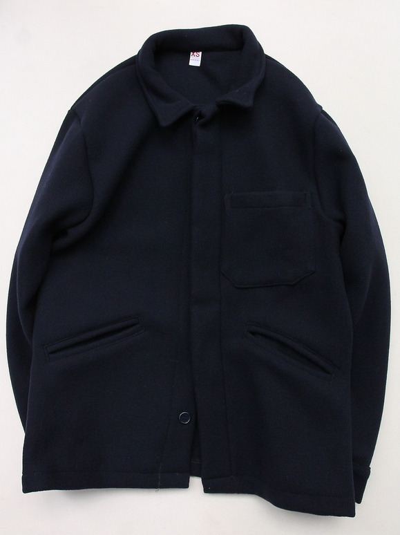 MADE IN ITALY Wool & Cashmere Work Jacket NAVY