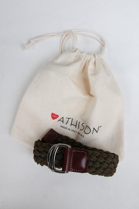 ATHISON Cotton Ring Belt OLIVE