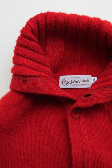 John Tulloch Heavy Brush Polo Neck Cardigan TUDOR (3)