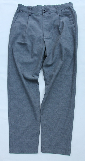 Harriss CARREMAN TR Stretch Heringbone 1P Tapered Pants GREY (5)