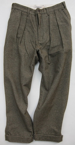 FOB 2 Tuck Wide Pants CW Back Satin OLIVE (6)