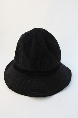 Au Vrai Chic BRITAIN Corduroy Dome Hat BLACK