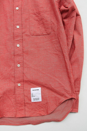 Your Uniform 20s Chambray Shirt Elbow Patch ORANGE (3)