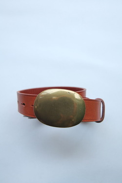 BALLERI Leather Belt Oval