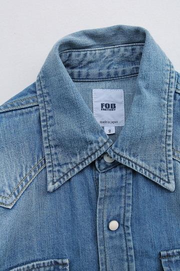 FOB  Vintage Washed Denim Western Shirt (2)
