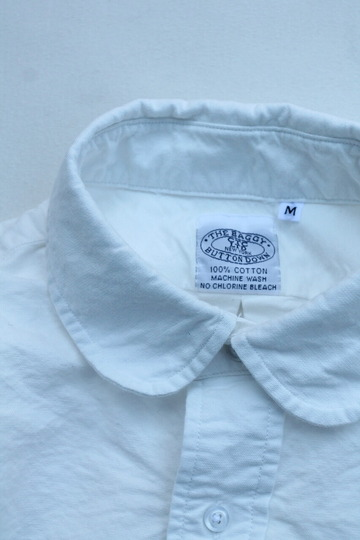 THE BAGGY Cotton Oxford Round Collarls WHITE (3)