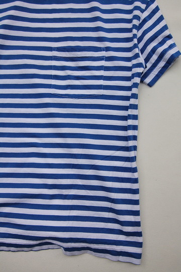 Vincent et Mireille Jersey Striped Big T Shihrt WHITE ROYAL (7)
