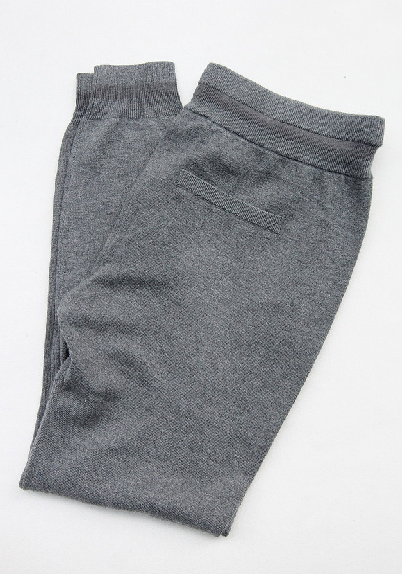 YaYa Wool Sweat Pants DARK GREY MELANGE