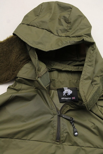 Buffalo Wind Shirt with Unlined Hood OLIVE (3)