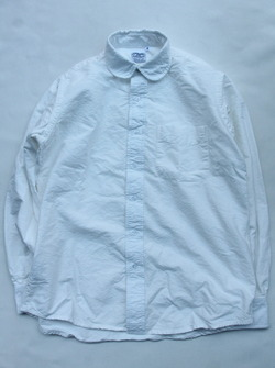 THE BAGGY Cotton Oxford Round Collarls WHITE (2)