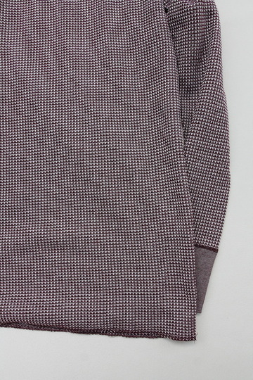 JE MORGAN Crew Neck Thermal MOKU WINE (3)