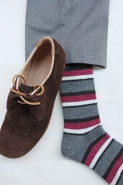 HALISON Doralon Multi Border Socks GREY