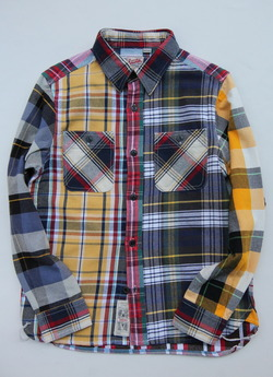 Huston Heavy Viyella Work Shirt Crazy  pattern
