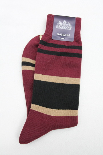 HALISON Dralon Cotton Rugger Border WINE (2)
