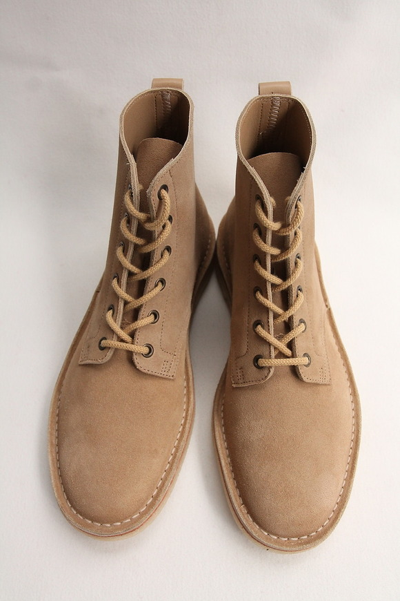 Suffolk Shoes Desert Hi Top SAND Suede