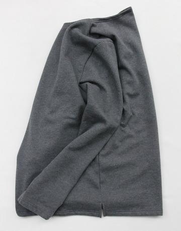 Quotidien Cotton Fleece Boat Neck  ANTHRACITE CHINE (3)