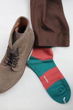 SOCKsist Socks GREEN X ORANGE