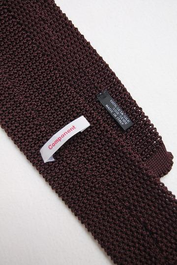 Component Silk Knit Tie BURGUNDY (2)