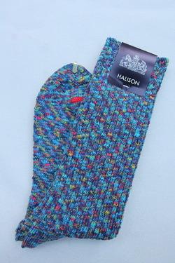 HALISON Marble Slab Rib Socks BLUE (2)