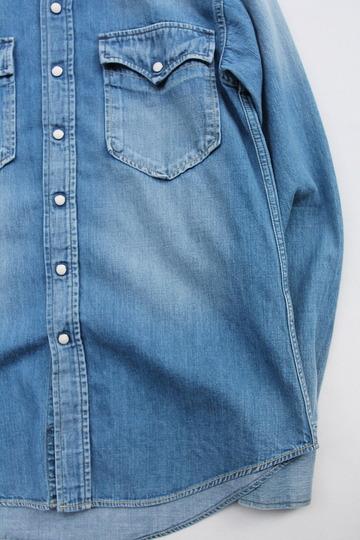 FOB  Vintage Washed Denim Western Shirt (3)