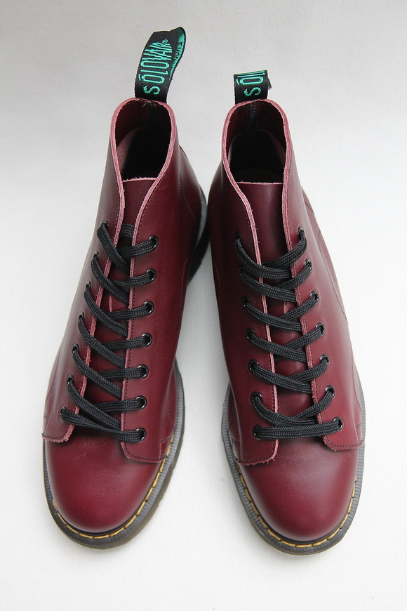 Solovair Oxblood 7Eye Monkey Boot CHERRY