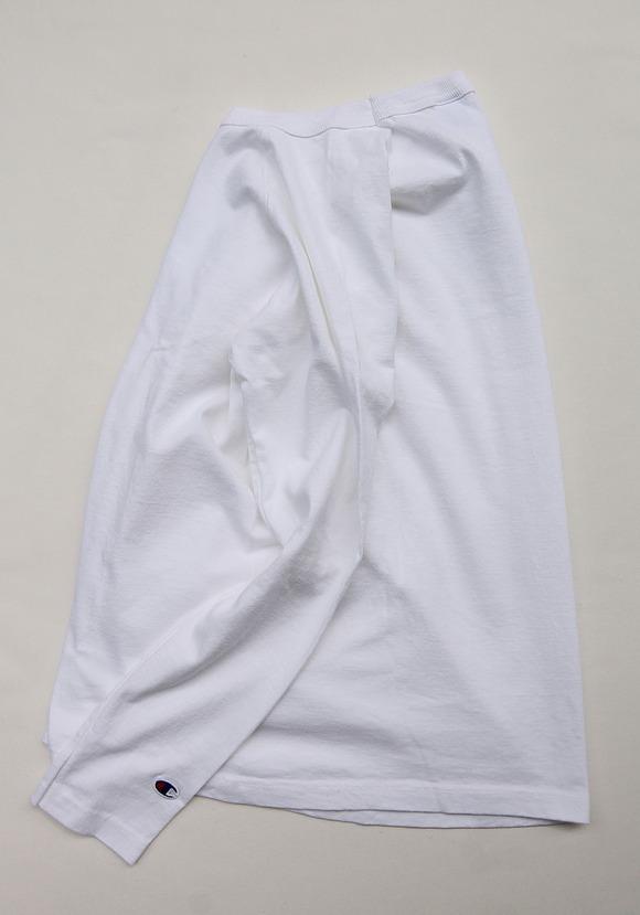 Champion T1011 Raglan Long Sleave Tee WHITE (2)
